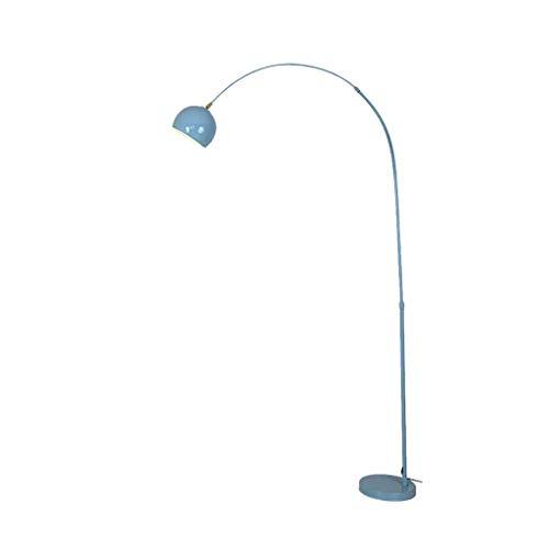 UWY Lámpara de pie de Arco Moderna Lámpara de pie LED de Lectura y Tarea de Brazo Ajustable con Pantalla de lámpara Colgante para Sala de Estar, Dormitorio Lámpara de pie (Color: Azul, Forma: Co