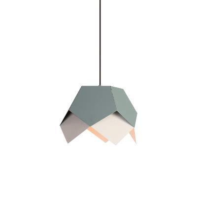 TRAACEM Lámpara De Araña Gráfica De Origami Geométrica Simple Lámpara De Aluminio De Color Lámpara De Café para Restaurante Lámpara Colgante Gris [Grado Energético A ++],Gris
