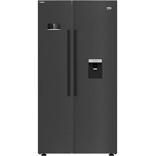 Beko ASD2341VB American Style Fridge Freezer With Non-plumb Water Dispenser - Black