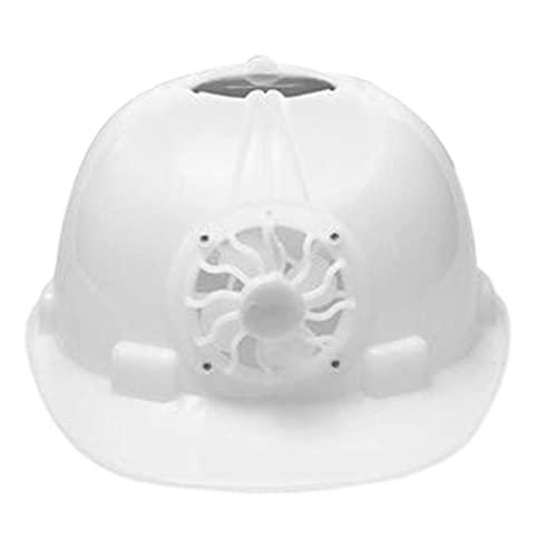 Casco de seguridad industrial con ventilador de refrigeración solar trabajador de construcción Hard Hat Hat Blanco