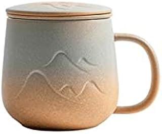 زجاجة مياه من Lizhuanlichsb ، كاكاو ومشروبات مركبة - 350 مل ، شاي ، فنجان قهوة بورسلين للمنزل - 350 مل للقهوة (اللون: بني)