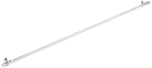 Tilldekor Designvitragestange TRIEST, edelstahl-optik, Ø10mm, ausziehbare Gardinenstange, 80 - 140 cm, inkl. Trägern und Befestigungsmaterial