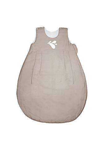ZEWI bébé-jou Baby Ganzjahresschlafsack, Tencel, Größe: 86/92 (18-24 Monate), Sand