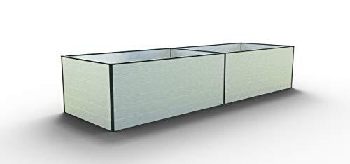 GFP Daniela 387 Aluminium Hochbeet für den Garten - 387x119x77cm, formstabil und witterungsbeständig auch bei Hagel mit Aluminium-Hohlkammerprofilen, Verschiedene Sets vorhanden - Made in Austria