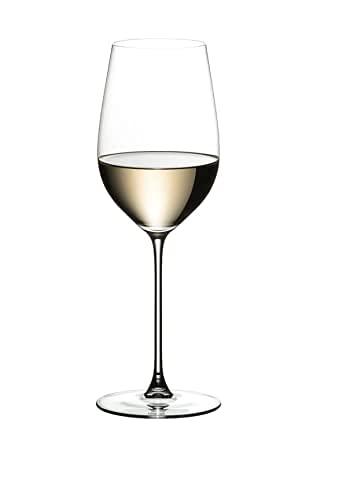Riedel Veritas Riesling Zinfandel - Juego de copas de vino blanco (3 en lugar de 4 copas de vino blanco, incluye gamuza limpiadora)