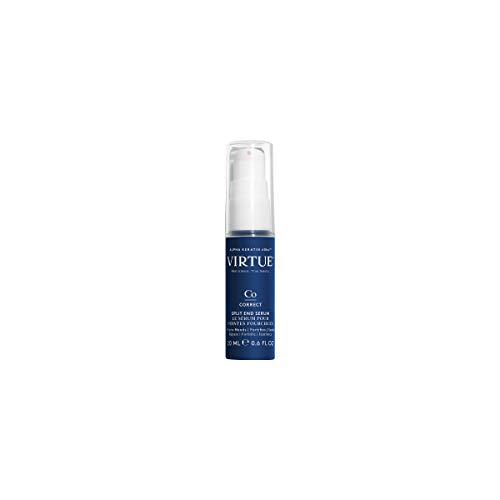 VIRTUE Split End Serum 0.6 FL OZ   Travel Size   Alpha Keratin Repairs, Protects Hair Split Ends   Sulfate Free, Paraben Free, Color Safe
