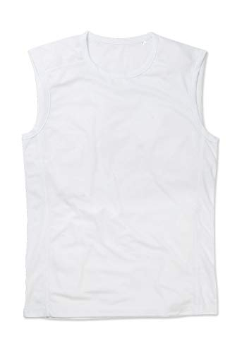 Stedman Apparel Active 140 Sleeveless/ST8440 Manteau, Blanc, L Homme