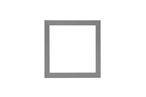 3D Deep Box Frame Range Bilder/Foto/Posterrahmen – mit Einer MDF-Rückwand – fertig zum Aufhängen – matt hellgrauer Rahmen – A3