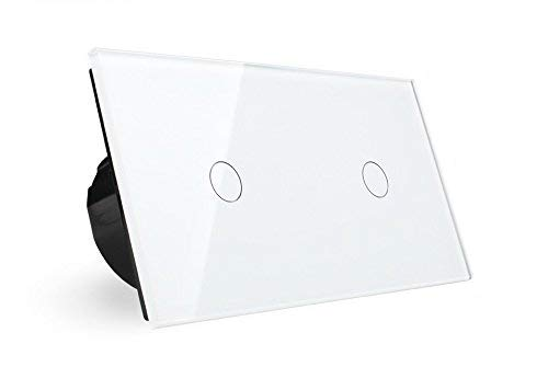Lichtschalter Glas Touchscreen Doppelschalter VL-C701-11 VL-C701-11 NEU