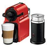 Breville Inissia Espresso Machine Red Bundle with Aeroccino