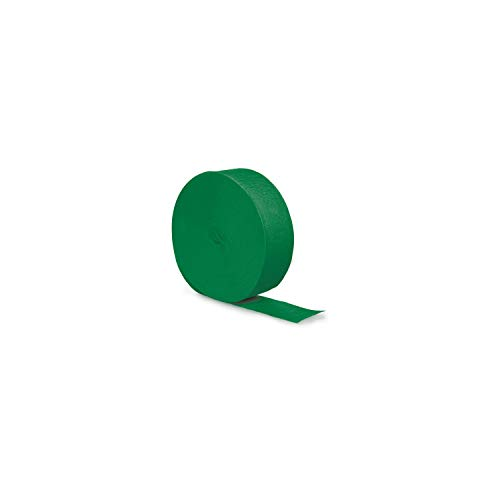 Creative Converting Touch of Color Crepe Paper Streamer Roll, 500-Feet, Emerald Green -