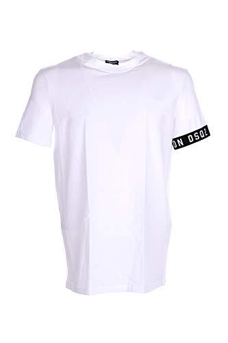 DSQUARED2 Icono Dsq2 Camiseta De Hombre, Blanco/Negro Medio