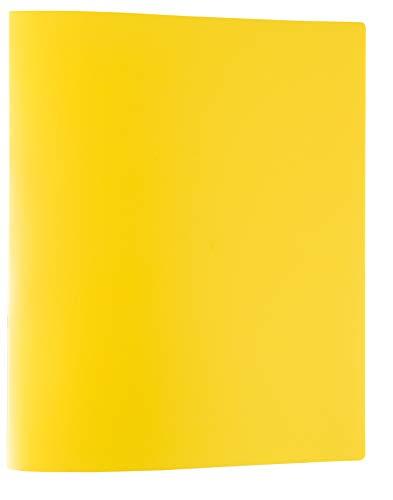 Idena 10437 - Ringbuch im Format DIN A4, mit 2-Ring-Mechanik, 20 mm Rückenbreite, gelb, 1 Stück