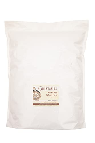 Homestead Gristmill Stone Ground Whole Red Wheat Flour - Non-GMO, Chemical-Free Artisanally Milled from Hard Red Wheat Berries - Long Shelf Life - Made In The USA - 10 Pounds