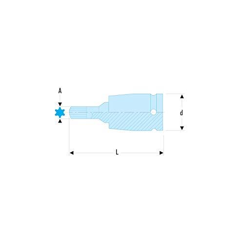 'Vaso Destornillador Impacto 1/2punta Torx T30