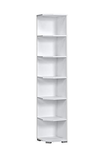 MAJA Möbel Abschlussregal, Holzwerkstoff melaminharzbeschichtet, ICY-weiß, One Size