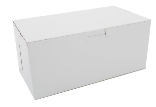 Southern Champion Tray 0949 Premium Clay Coated Kraft Paperboard White Non-Window Lock Corner Bakery Box, 9