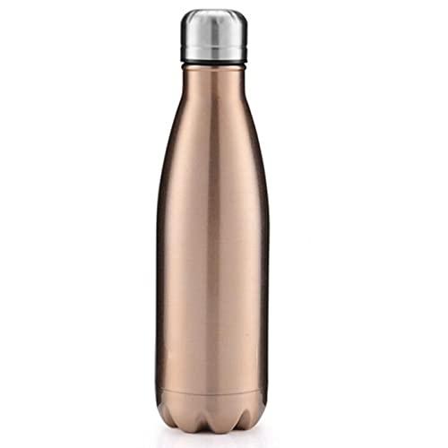 WXDC Matraz de vacío de Acero Inoxidable, Botella de Agua Deportiva de Aislamiento de Doble Capa, Thermos Gradient Color Office Business Cup