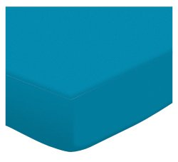 SheetWorld Luxury Denver Mall goods Fitted Stroller Bassinet Sheet - Turquoise Jersey Kni