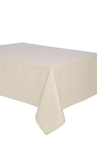 Mantel antimanchas rectangular Olimpia 50% algodón 50% poliéster, resinado y con Teflón de Dupont® - 150x200 - Liso beige