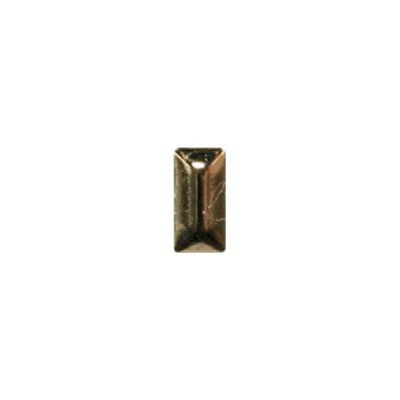 生産的警察署失礼ピアドラ スタッズ メタル長方形 2×4mm 50P ゴールド
