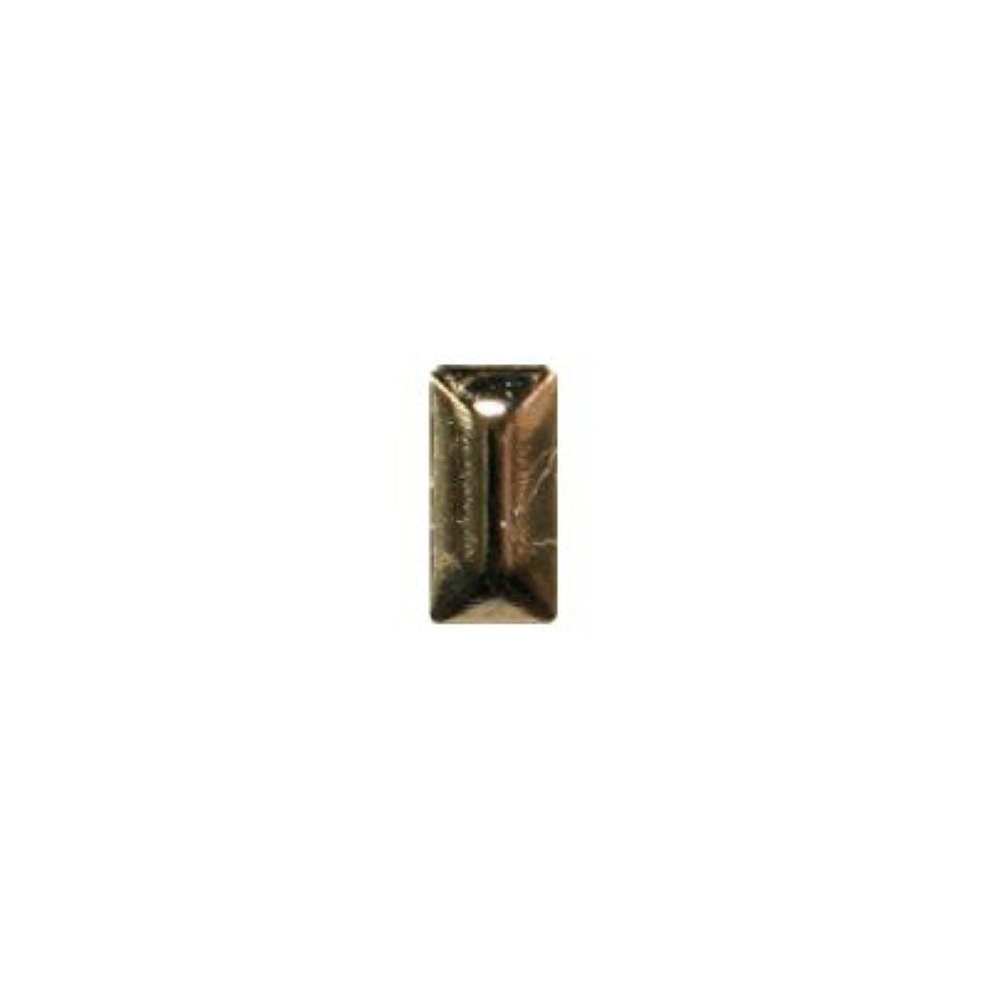 なめる受賞ジェムピアドラ スタッズ メタル長方形 2×4mm 50P ゴールド