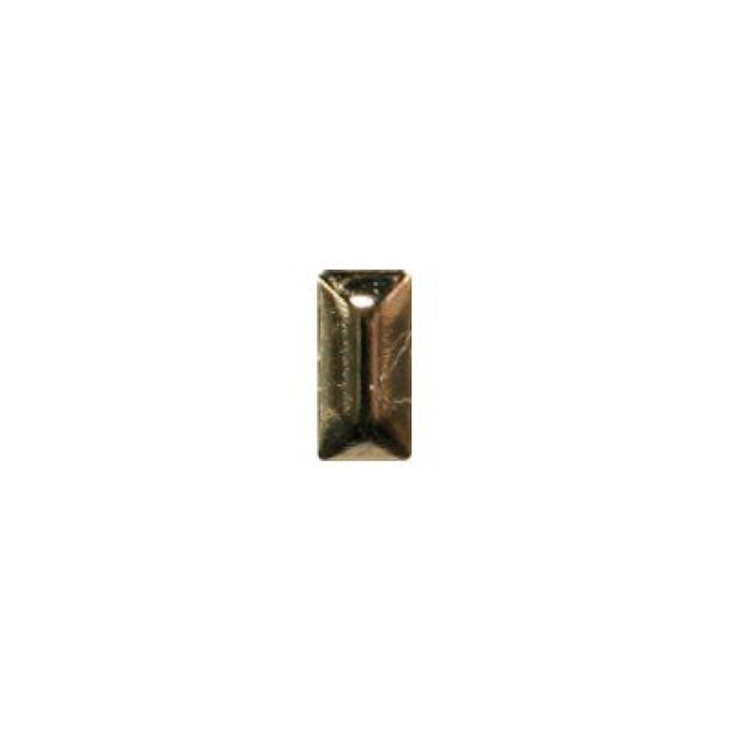 コスチューム壊れたメンタリティピアドラ スタッズ メタル長方形 2×4mm 50P ゴールド