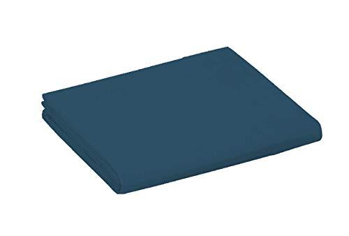 UNIVERS-DECOR Drap Plat 57 Fils/cm² 240 x 300 cm Bleu Marine