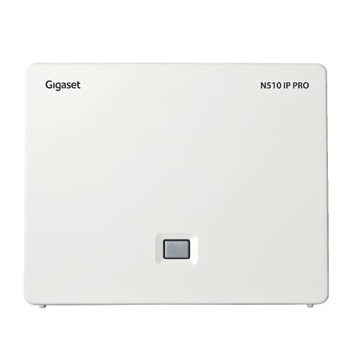 Gigaset N510 IP PRO - DECT IP Basisstation, verbindungen über Wireless & DECT, bis zu 4 externe Anrufe gleichzeitig, 6 Mobilteile, 6 VoIP-Accounts, schwarz