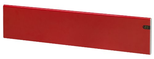 ADAX Neo NL - Radiador eléctrico Moderno, Altura 200mm, 800W | Anticongelante | KDT Rojo | IP20C