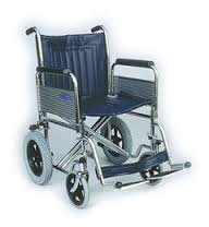 Days Heavy Duty Transit Wheelchair, 51cm (20'), Folding Back, Detachable Swing Away Footrests & Armrests, Folds for Transport, Easy for Caregiver to Push, (Eligible for VAT relief in the UK)