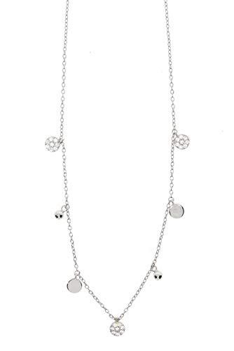 Zoeca - Halskette - Jumping Dots - 925 Silber - zirkonia steine - Nickelfrei (Silber)
