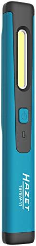 HAZET LED Pen Light, Wireless Charging (induktiv geladen, Top-Licht 120, Hauptlicht bis zu 200 Lumen, Ladedauer: 2,5h, Länge: 180 mm) 1979W-11, schwarz-blau