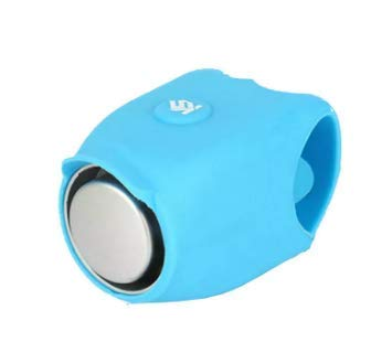 Shrinika Silicone Cycling Alarm Bell 120dB Electric Horn Waterproof Electric Handlebar Bike Bell (Blue)