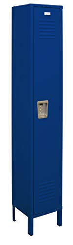 Single Tier Locker 12-Inch Wide 5-Feet High 15-Inch Deep Unassembled Metal Locker 1 Doors with Louvers 12W x 15D x 66H Perfect for School, Office, Gym, Garage or Lockers for Employees