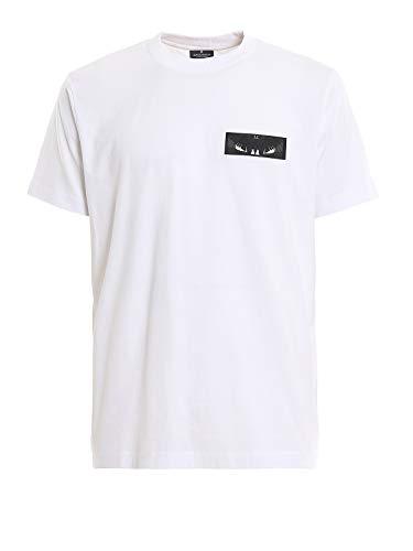 MARCELO BURLON Vleugels patch T-Shirt Bianco Uomo