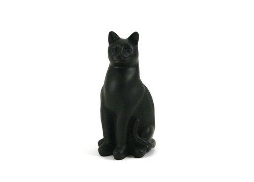 Near & Dear Pet Memorials Elite Cat Resin Cremation Urn, 25 Cubic Inch, Black