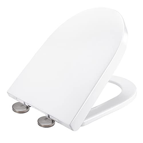 Abattant WC, XDHEK Lunette de Toilette en Aminolac avec Blocage Rapide et Pare-chocs Antidérapants, Cuvette de Toilette Silencieux pour une Installation et un Nettoyage Faciles