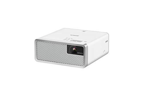 Epson EF-100W Android TV Edition, Videoproiettore Laser Portatile, Android TV per Streaming, Connessione Wi-fi, Immagini fino a 150 pollici, Bianco