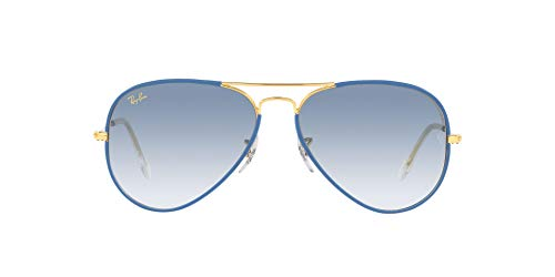 Ray-Ban 0RB3025JM Gafas, LIGHT BLUE ON LEGEND GOLD, 58 Unisex Adulto