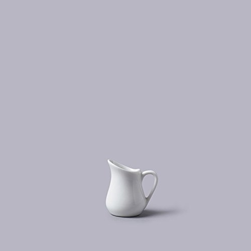 Cks Style Traditionnel Blanc Mini- 25Ml Céramique Versant Cruche (5cm)