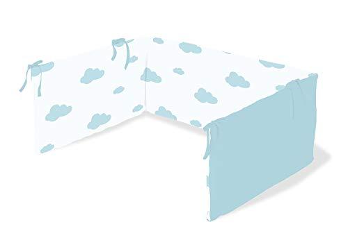 Pinolino 650012-2 Nestchen für Kinderbetten 'Wölkchen', blau