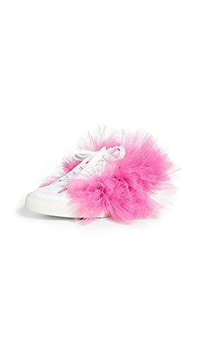 JOSHUA SANDERS Women's Tulle Story Donna Sneakers, Fuchsia, Pink, White, 6 Medium US