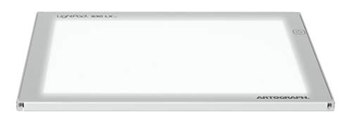 Artograph LightPad 930 LX-12' x 9' Thin, Dimmable LED Light Box for Tracing, Drawing in Silver