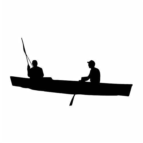 TYUTYU Etiqueta engomada del Coche Kayak Coche Ventana Vinilo Calcomanía (Color Name : Black)