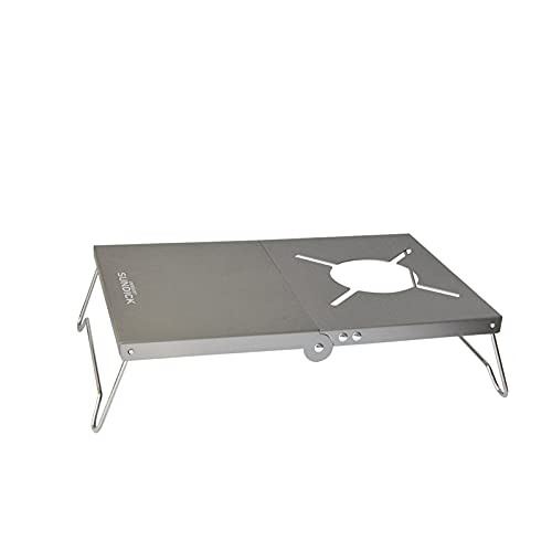 Mesa plegable portátil, multiusos, de dureza ligera, para hornillo de gas, aleación de aluminio, portátil, tabla de almacenamiento, con bolsa de almacenamiento, accesorios de camping al aire libre