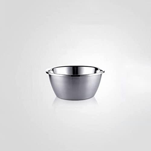 XYZMDJ Cuenca de Sopa de Acero Inoxidable tazón de Huevo al Horno de Acero Inoxidable Cuenco de arroz súper Grueso (Size : 28cm)