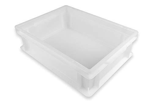 Gi.Metal Pizzaballen-Box Set mit 30 x 40 x 12 cm Größe - Stapelbox, Kunststoffbehälter für Pizzateig, Teigling-Box, 2X Pizzaballen-Box ohne Deckel