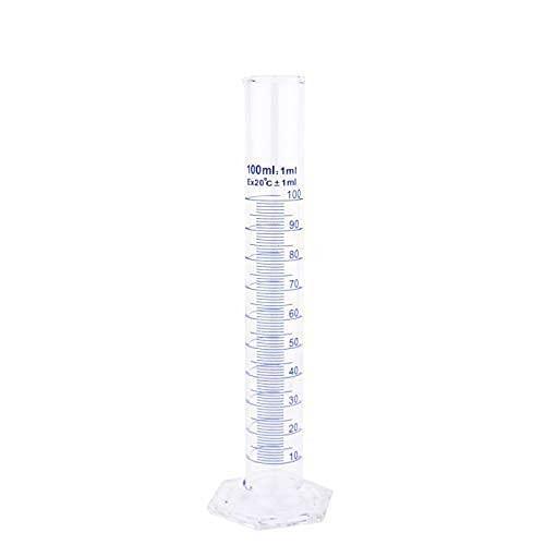 Teqler - Cilindro graduato in vetro, 100 ml, 1