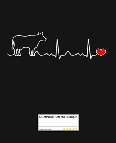 I Love My Cow Valve EKG Heartbeat Heart Patient Notebook: Gift For cows Lovers, Lined Notebook, 120 Blank Pages, Journal, 6x9 Inches, Matte Finish Cover